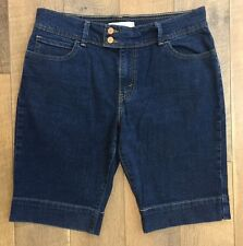 Levis 515 Women's Shorts Stretch Denim Button Flap Back Pockets Red Tab Size 12
