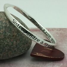 Sisters Quote Bangle share a special bond that lasts a lifetime