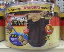 TELEBRANDS Top Brass Bullet As Seen On TV 3/4 in. x 100 ft. L Garden Pocket Hose