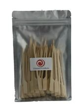 200 PCS Oriental Creations Premium 4 inch Natural Bamboo Paddle Picks Skewers