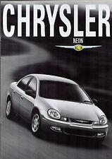 Chrysler Neon 2001-02 Market Sales Brochure 2.0 LX R/T