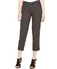 Anne Klein Women's New Cropped jacquard pants Black Size 14