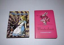 Alice In Wonderland Passport Journal & Sticky Note Book Gift 2 Piece Set