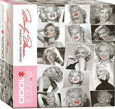 Puzzle Marilyn Monroe Collage, 1000 pièces, Norma Jeane Baker, Film, Eurographics
