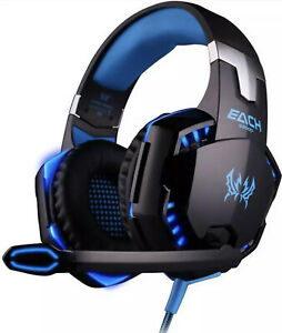 Kotion Each G2000 Stereo Gaming Headset for PS4 Xbox One Bass Over ear Blue