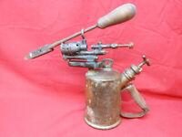 Antique Vintage Clayton & Lambert Brass Blow Torch with Soldering Iron
