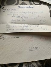 1955 Dot Records Letter Stationary For Royalty Payment