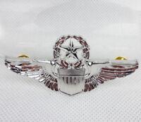 USAF U.S. AIR FORCE MILITARY COMMAND PILOT METAL WINGS BADGE INSIGNIA PIN