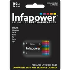 Infapower  B007 Rechargeable 9v Ni-MH High Performance Multi Use Battery 170mAh