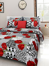 Homefabs 100% Cotton Double Bed Sheet with 2 Pillow Covers (DBS 073)