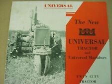 Authentic The New MINNEAPOLIS MOLINE TWIN CITY Universal TRACTOR Brochure 20's