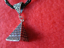 * * * EGYPTIAN - PYRAMID * * *  PENDANT ON BRAIDED NECKLACE