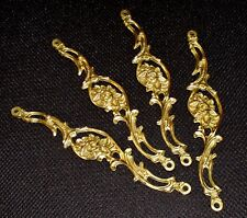 """(4x8"""") Italian Decorative CHANDELIER HANGING LINKS- Gold Dore Solid Bronze- NOS"""