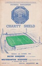 More details for bolton wanderers wolverhampton wanderers 1958 charity shield football programme
