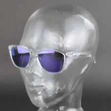 Occhiali da sole da uomo rettangolari viola polarizzati
