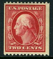 USA 1910 Washington 2¢ Carmine Perf 12 Horz SL Wmk Scott 386 Mint S693