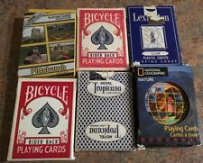 6 decks playing cards. National Geographic, Pittsburgh, Bicycle, Lexington & Bee