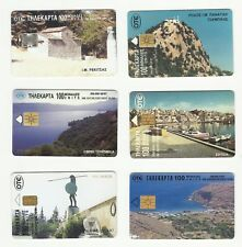 GREECE GREEK PHONECARDS 1997- OTE – LANDSCAPES – Lot of SIX (6) - USED