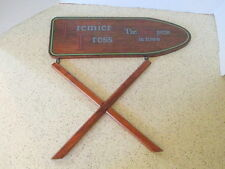 """Laundry Sign, """"Premier Press.The Best Press In Town"""", Wood, 16 1/4"""" X 15 3/4"""""""