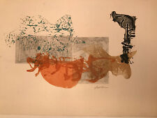 """Irving Amen Rare Color Abstract Signed  Excellent Cond. 21"""" X 27""""."""