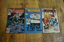 Wolverine #1 8 10 (Marvel Comics, 1988-1989) FN- / FN Lot of 3 Comics