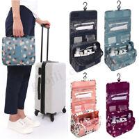 Travel Cosmetic Storage MakeUp Bag Folding Hanging Toiletry Wash Organizer