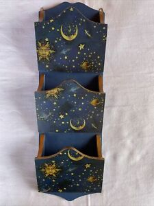 SUN~MOON~STARS & PLANETS Letter Bill Holder 3 Slots Anister Gifts