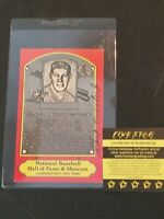 Autograph: STAN COVELESKI, Dexter Press RED Hall of Fame plaque postcard -