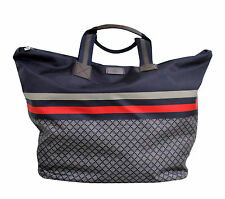 NEW Authentic GUCCI Unisex Diamante Tote Travel BAG Blue XL 268106 8611