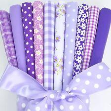 FAT QUARTER BUNDLE 10 polycotton fabrics lilac & purples 20 x 22 inches