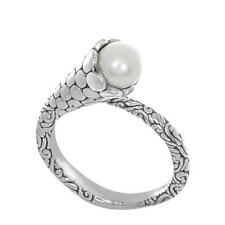 925 Sterling Silver Cultured Pearl from Bali, Indonesia Ring Size 7