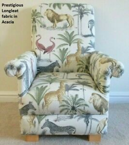Prestigious Longleat Acacia Fabric Children's Chair Kids Armchair Animals Safari