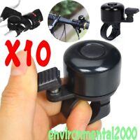 10Stk.Schwarz Fahrrad Klingel Fahrradklingel  Kompaktglocke Laut und Klar