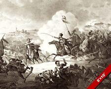 BATTLE OF KIRCHOLM PAINTING POLISH SWEDISH WAR ENGRAVING ART REAL CANVASPRINT