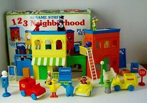 Tyco Sesame Street 123 Neighborhood Playset, Figures & Accessories