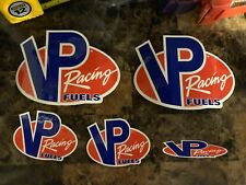 Lot Of 5 VP Racing Fuels Decals.VP Racing Fuels NHRA Drag Racing Stickers New!!