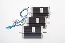 【Free Ship】3 pcs Nema 23 stepper motor 425 oz.in 3A dual shaft 4 leads CNC