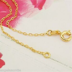 18K Yellow Gold Filled Rings Link Necklace (N-131)