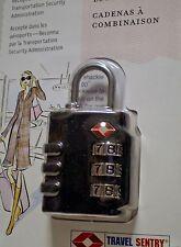 "NEW ""BELLE HOP"" TSA TRAVEL LOCK - 3 DIAL COMBO- CLASSIC BLACK - 7200"