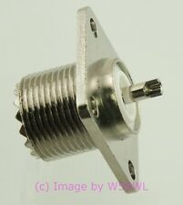 Coax Connector UHF SO-239 Heavy Chassis Mount - by W5SWL ®