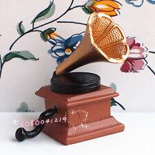 Dollhouse Miniature 1:12 Toy Vintage Gramophone BM74