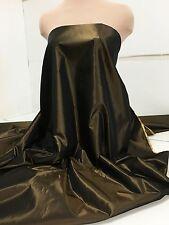 "IRIDESCENT TAFFETA FABRIC BRONZE 60"" BY THE YARD/ FORMAL WEAR, DRESSES, CRAFTS"