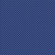 Baumwollstoff Pünktchen Royal Blau METERWARE Webware Popeline Stoff Dots