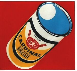 Original vintage poster CARDINAL SWISS BEER EXPORT CAN c.1960