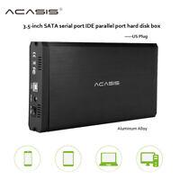 "3.5 "" HDD Enclosure USB 2.0 SATA IDE External Hard Drive Disk Enclosure US plug"
