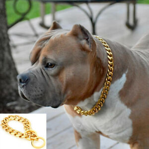 Dog Collar Chain Pet Choker Stainless Steel Pet Accessory Safety Rope Bulldog