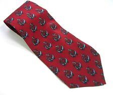 J. GARCIA Red Blue Design NECK TIE  Men's 100% SILK  Necktie  Made USA Jerry