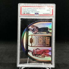 19-20 PANINI CROWN ROYALE LORDS of the COURT BRONZE ZION WILLIAMSON RC /99 PSA9