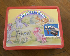 My Little Pony Lunchbox Metal Retro Vintage 2003 & thermos NECA