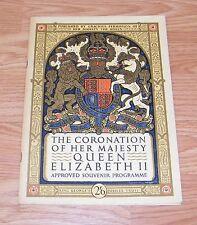 The Coronation of Her Majesty Queen Elizabeth II Souvenir Programme June 2, 1953